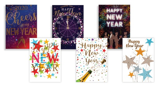 Simon Elvin Box Of 72 Assorted New Year Cards